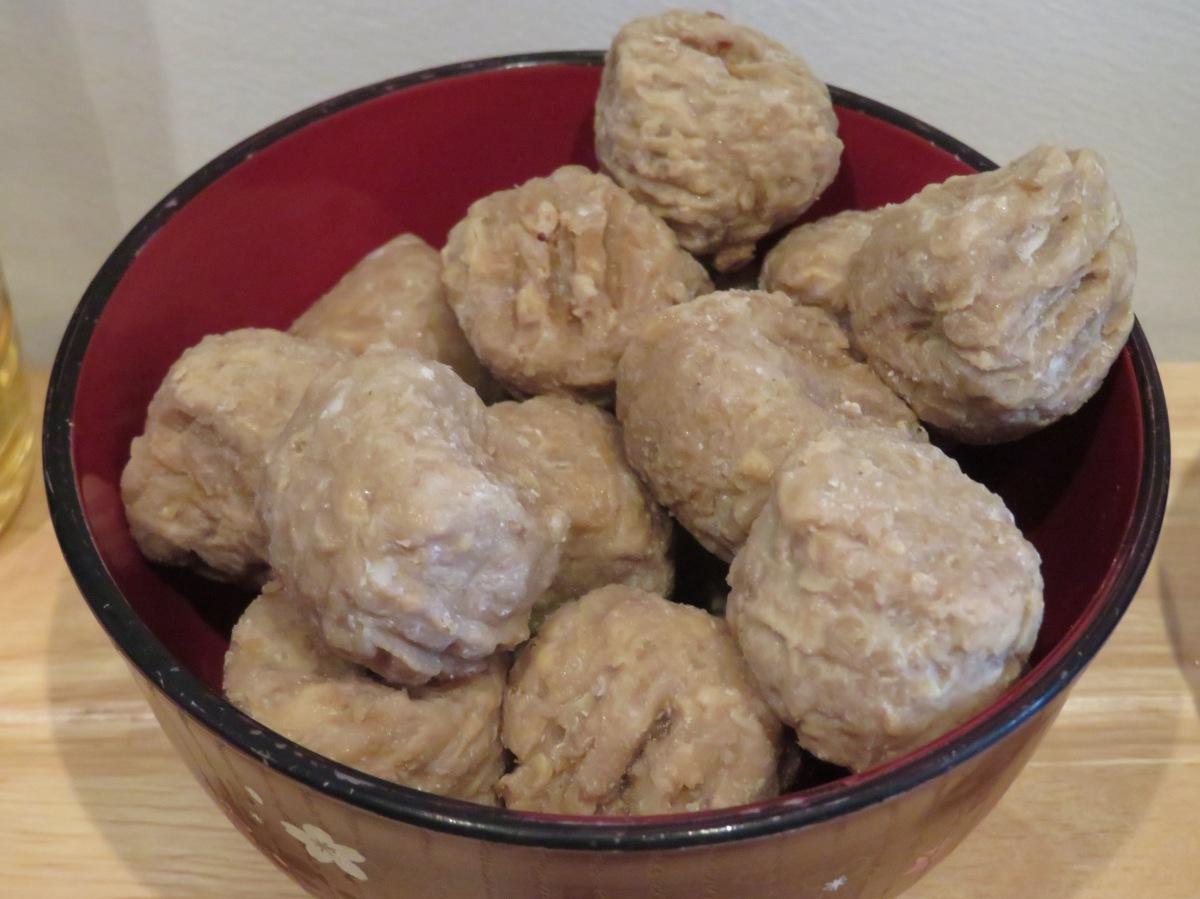 Quorn 'meatballs'